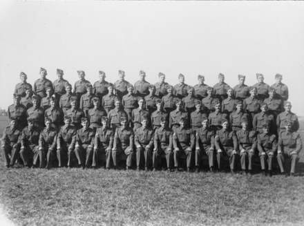 Group photo, 43 Battery at Ngaruawahia Camp 1941 - This image may be subject to copyright