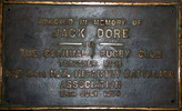 Commemorative plaque, Cornwall Rugby Club, John (Jack) Dore. (photograph: G.A. Fortune, 2008) - Image has All Rights Reserved