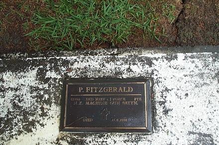 Memorial plaque, Onetangi Cemetery, Waiheke Island (photo P. Baker 2008) - This image may be subject to copyright