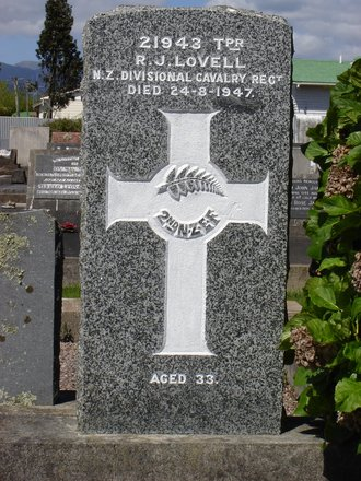 Headstone, Old Levin Cemetery (Tiro Tiro Road) - This image may be subject to copyright