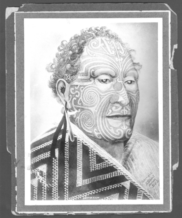 Portrait, an original photograph of the painting by S Stuart, Kaikohe, Bay of Islands (kindly provided by Paul Baker) - No known copyright restrictions