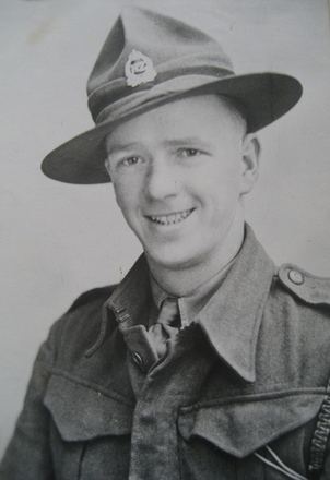 Portrait, WW2, Eric Oscar Andersen Reg no 23693, Sapper, Forestry Company (kindly provided by family) - This image may be subject to copyright