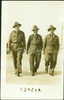 Group, WW2, three soldiers walking postcard stamped (front): William Smith on right; other soldiers signatures on the back: C.R. Hodgkinson; George H. Kitto (kindly provided by W Smeith's daughter) - This image may be subject to copyright