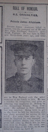 Portrait, Obituary The Star, 20 May 1918 - No known copyright restrictions