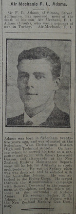 Portrait, Obituary The Star, 23 May 1918 - No known copyright restrictions