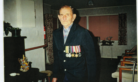 Portrait, in later life wearing medals (kindly provided by family) - This image may be subject to copyright
