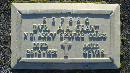 Headstone, Waikumete Cemetery (photo August 2012 by G.A. Fortune) - Image has All Rights Reserved