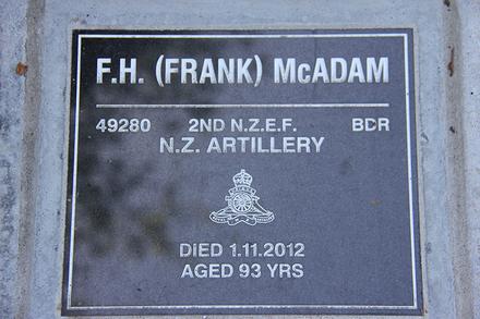 Gravestone, Rotorua Francis Hardy McAdam (49280) - This image may be subject to copyright