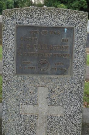 Headstone, Waikaraka Cemetery, Auckland (photo J. Halpin March 2012) - This image may be subject to copyright