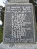 Lower Waitohi War Memorial, South Canterbury, names WW1 (photo Brian Davison, 2009) - No known copyright restrictions