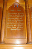 Detail, dedication panel for tablet and altar, Roll of Honour, Holy Trinity Church, Devonport (photo J. Halpin, 2013) - No known copyright restrictions