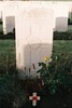 Headstone, Tyne Cot Cemetery, Zonnebeke, Belgium (photo B.G. Knights, 2009) - No known copyright restrictions