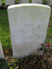 Headstone, Euston Road Cemetery, Colincamps (taken by family 2009) - No known copyright restrictions
