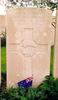 Headstone, Trois Arbres Cemetery - No known copyright restrictions