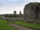 View Abbey and graves, Kinloss Abbey Burial Ground (photo Stuart Roxburgh 2008) - This image may be subject to copyright