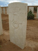Headstone, showing row number on side, Knightsbridge War Cemetery, Libya (photo B. Coutts, 2009) - This image may be subject to copyright