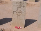 Headstone, Knightsbridge Cemetery, Libya (photo Mrs Downing 2005) - This image may be subject to copyright
