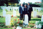 Whanau, left to right, Arthur Kereopa Snee and Susan Te Kaihou Snee, Marau Russell beside Te Kaihou's brother's grave, Florence War Cemetery, taken 27 September 2000 when the 28 Maori Battalion, D Compnay toured Italy (photograph from Arthur Snee) - This image may be subject to copyright