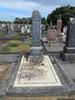 Gravestone broad view at Waikaraka Cemetery provided by Sarndra Lees October 2013 - Image has All Rights Reserved.