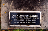 Gravestone at Pakanae Cemetery provided by Paul Baker. - This image may be subject to copyright