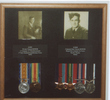 Family framed montage, portraits and medals - This image may be subject to copyright