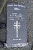 Image of Gravestone at Lyttelton Catholic & Public Cemetery provided by Paul Baker June 2013 - No known copyright restrictions