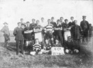 Group photograph, B Company, 15th Regiment Rugby Team - Charles Hume is third from left at the back. - No known copyright restrictions