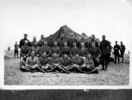 Group, Officers of Wellington Mounted Rifles, in front of a tent, Egypt?. - No known copyright restrictions