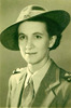 Portrait, WW2, Elizabeth Wilson, street uniform (kindly provided by family) - This image may be subject to copyright