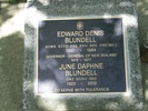 Image of Gravestone at Purewa Cemetery, re-done after death of Lady June Blundell, provided by Paul Baker December 2013 - This image may be subject to copyright