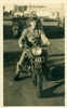 Reginald Woodgyer on motorcycle (provided by Bobbie Woodgyer, daughter) - This image may be subject to copyright