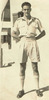 Portrait, standing, his sleeves are rolled, wearing shorts, long socks and leather lace-up shoes (kindly provided by the Levin family) - This image may be subject to copyright