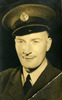 Portrait of Patrick Morrison, wearing cap with RNZAF / RAF NCOs cap badge - This image may be subject to copyright