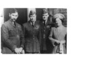 After the War. King George & Queen Elizabeth Air Marshall Sir Roderick Carr - No known copyright restrictions