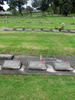 Gravestone broad view at Papatoetoe Cemetery provided by Sarndra Lees April 2013 - This image may be subject to copyright