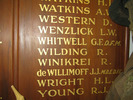 Detail, Tirau District 1939 - 1945 Roll of Honour held by the Tirau Museum - This image may be subject to copyright