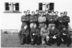 Group portrait at Trentham Camp. George Hurdle in front row, on the far right - This image may be subject to copyright