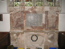WW1 Memorial, St Andrew's, Cullompton (photo kindly provided by the Church Warden, 2013) - No known copyright restrictions