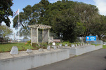 Pukekohe Intermediate School, WW1, Memorial stones long view 2 (photo J Halpin September 2010) - No known copyright restrictions