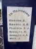 Sanson School Memorial, In Memorium marble plaque, names Henson - Witt (photo G. Fortune) - Image has All Rights Reserved