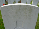 Headstone, Trois Arbres Cemetery, closeup (photo Chris Cooke 2008) - No known copyright restrictions