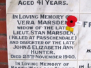 Memorial stone at Karori Cemetery provided by Sarndra Lees August 2013 - Image has All Rights Reserved.