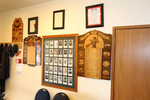 View in situ, Rolls of Honour, portraits in the RSA Warkworth (photo J Halpin, January 2012) - This image may be subject to copyright