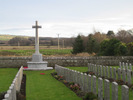 View Cross of Sacrifice and graves, Kinloss Abbey Burial Ground (photo Stuart Roxburgh 2008) - This image may be subject to copyright