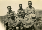 "Group, WW2 5 soldiers in the desert with Leslie Gordon Jackson (66110) left front with ""Alex directly behind."" - This image may be subject to copyright"