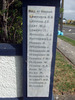 Sanson School Memorial, marble plaque, Roll of Honour names Lawrence - Wilcocke (photo G. Fortune) - Image has All Rights Reserved
