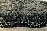 Group, K Force, 47 soldiers posed outside Jack Samuel Winter (203999) (2nd row from back, right end) - This image may be subject to copyright