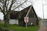 Selwyn Chapel at Christ Church (Anglican), Papakura, Auckland, view 1 with Memorial Stone laid 1922 (photo John Halpin 2010) - CC BY John Halpin