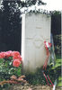 Headstone, La Plus Douve Farm Cemetery (photo supplied by R Beddows) - No known copyright restrictions