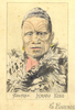 Drawing by Samuel Harris - Tawhiao, Maori King. - No known copyright restrictions